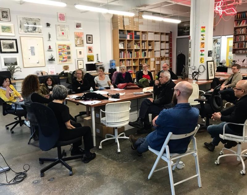 AICA-USA 2018 Annual Meeting at the Brooklyn Rail Headquarters in Sunset Park, Brooklyn