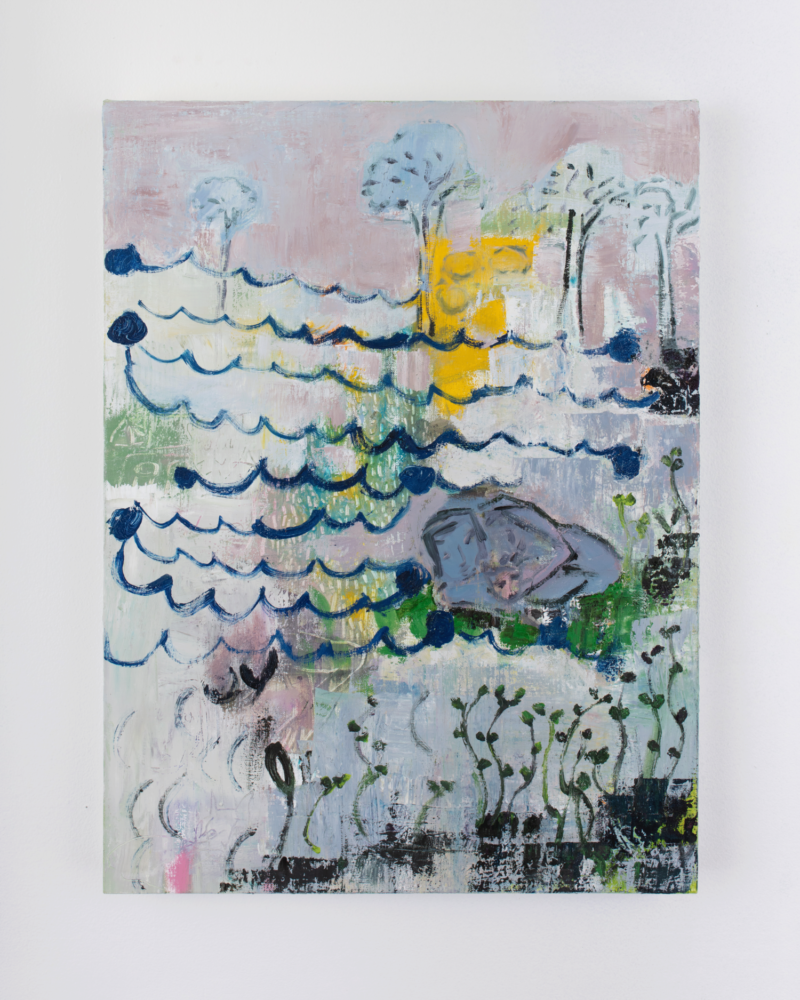 Julia Schwartz, Chutes and Ladders, 2020 Oil on linen. 24 x 18 inches