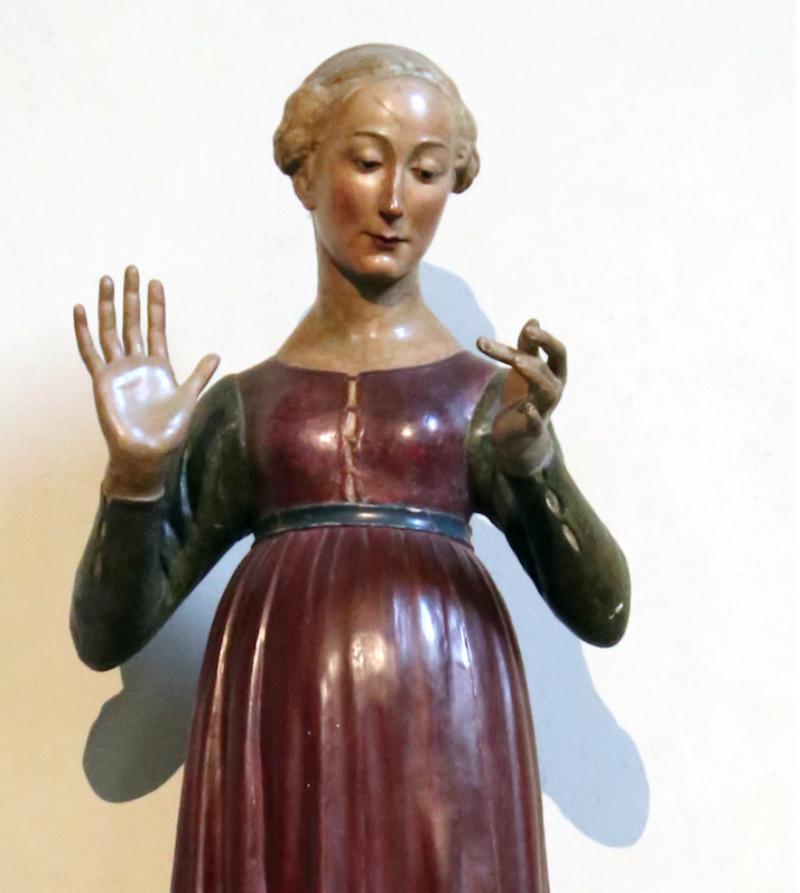 Matteo Civitali, Annunciata, 1490. Wikimedia Commons.