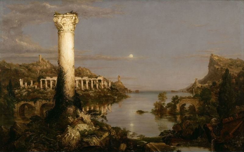 Thomas Cole, The Course of Empire: Desolation, oil on canvas, 1836.