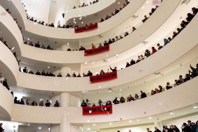 Protest at the Guggenheim Museum