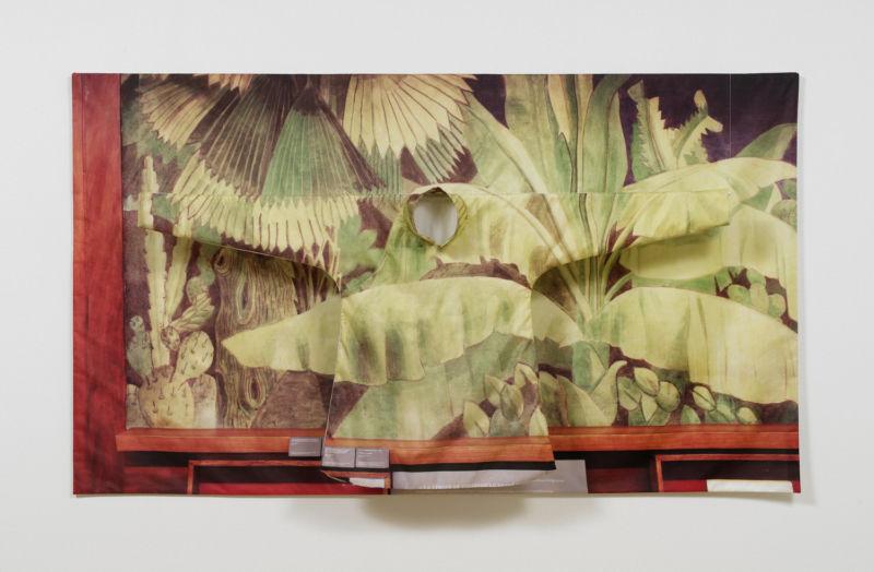 Hương Ngô, In Passing I, Archival pigment print on silk habotai, custom armature, 73 x 42 in, 2017