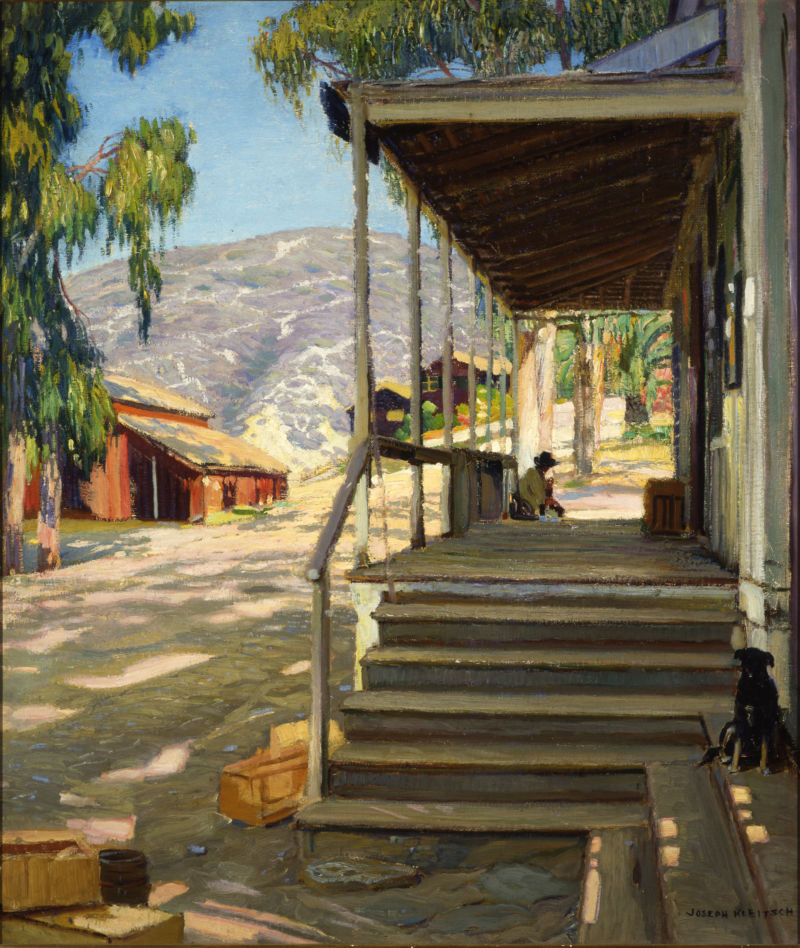 Joseph Kleitsch, The Old Post Office, oil on canvas, 1922-23. Property of Laguna Art Museum.