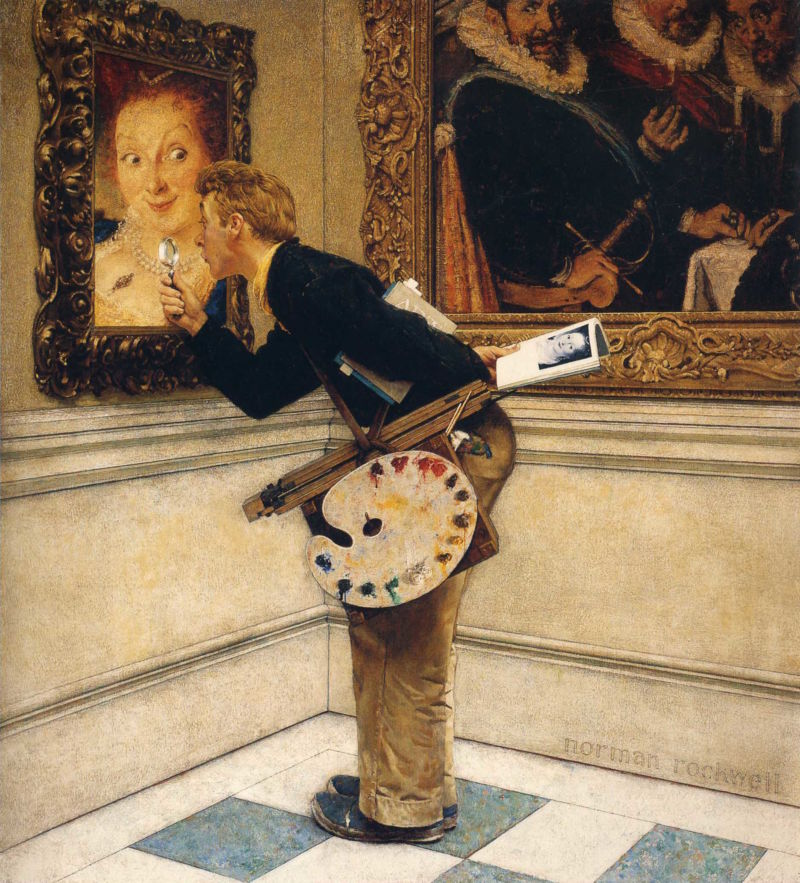 Norman Rockwell, Art Critic, 1955