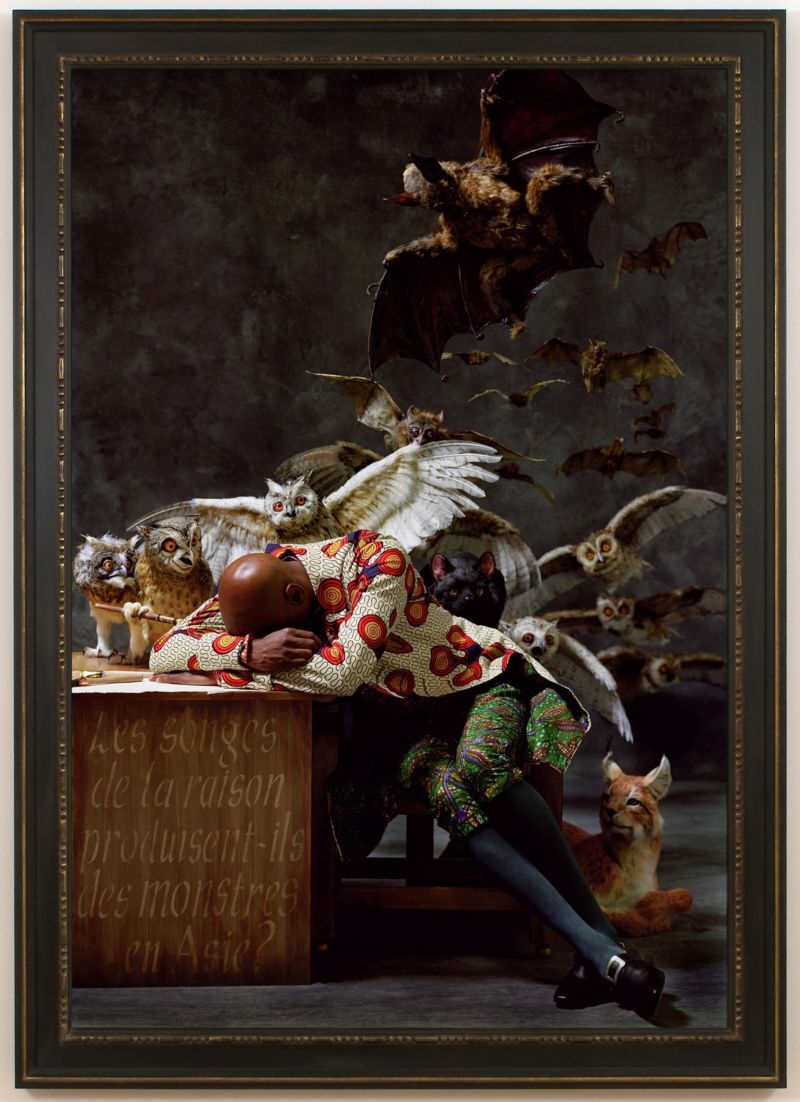 Yinka Shonibare, CBE. The Sleep of Reason Produces Monsters (Asia), 2008 C-print mounted on aluminum Notes: Image size: 72 X 49.5 inches. © Yinka Shonibare CBE 2021. Image courtesy the artist and James Cohan, New York.