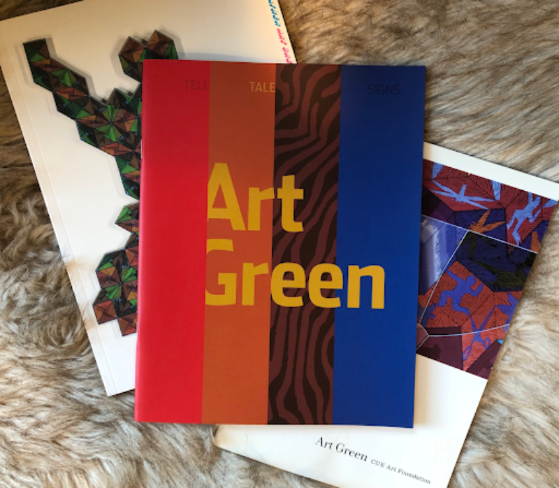Recent mail from the painter Art Green. Photograph by Paul Maziar, who plans to write more about Green's life and work.