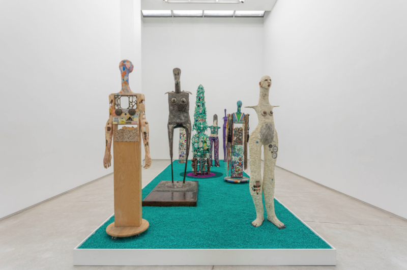Installation view from Timothy Washington's exhibition Pucker Up, 2020. From salon94.com.