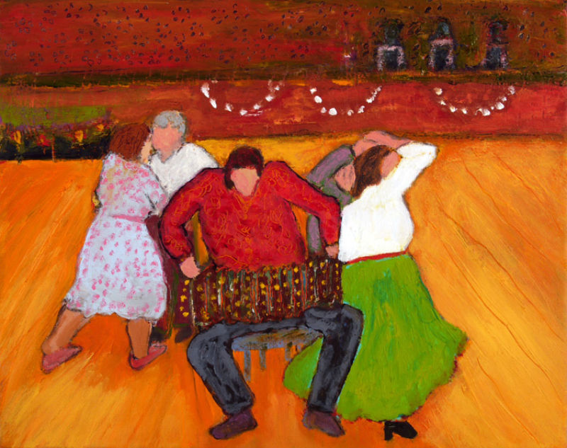 Bette Alexander, Dancing Zydaco #2, Oil on Canvas, 2008