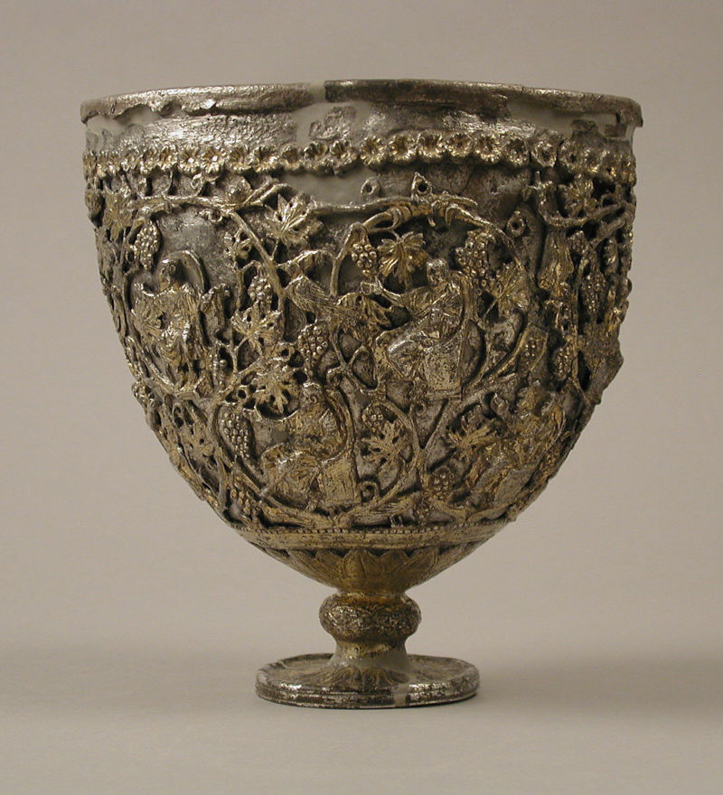 "The Antioch ""Chalice,"" silver, 500–550, Metropolitan Museum of Art."
