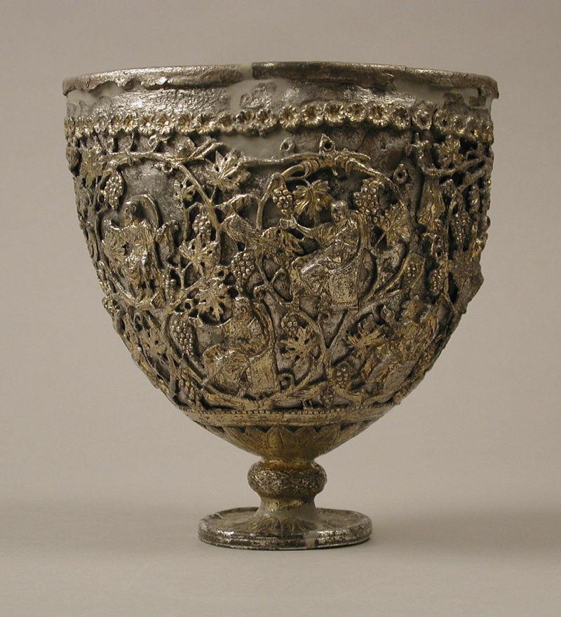 "The Antioch ""Chalice,"" silver, 500–550, Metropolitan Museum of Art."