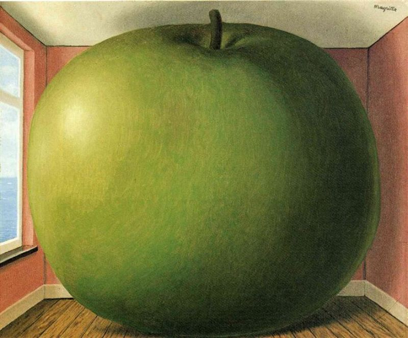 Rene Magritte, La Chambre D'Ecoute (The Listening Room), 1952, oil on canvas.