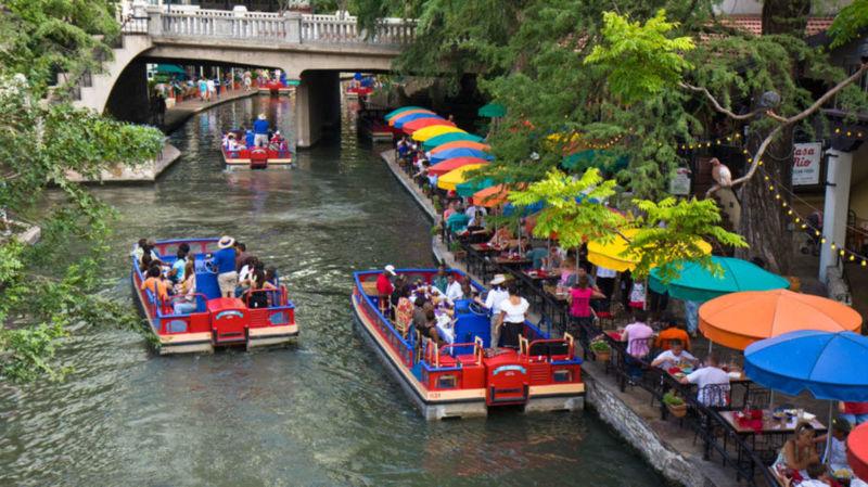 Stock image of the San Antonio River Walk