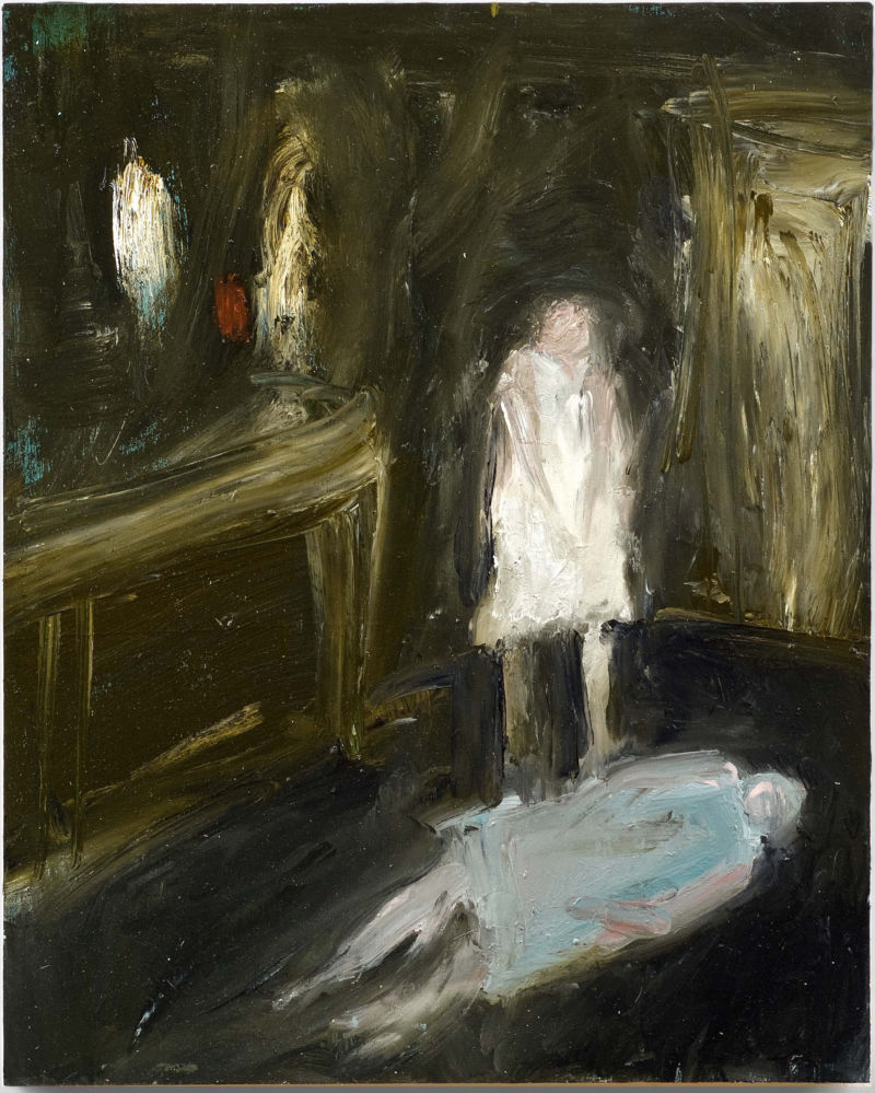 Julia Schwartz, trying and failing 2011, oil and wax on panel, 20 x 16 inches